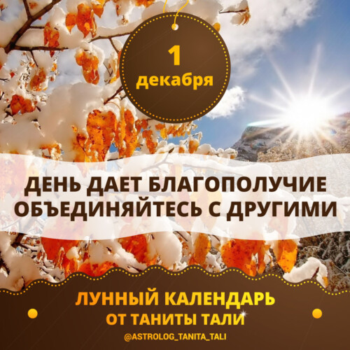 гороскоп на сегодня 1 декабря 2019