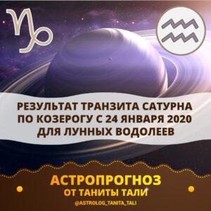 Транзит Сатурна по Козерогу 2020 для Водолея