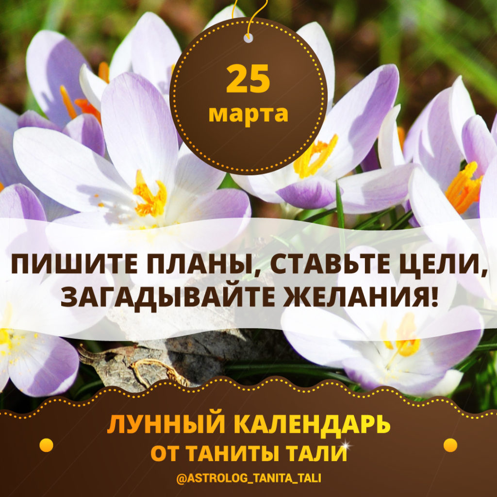 гороскоп на сегодня 25 марта 2020