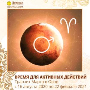 Транзит Марса в Овне с 16 августа 2020 по 22 февраля 2021
