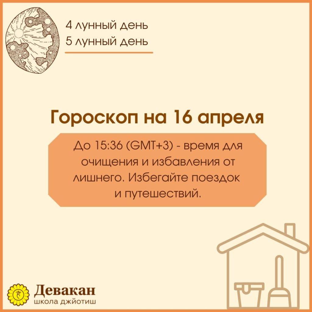 гороскоп на сегодня 16 апреля 2021