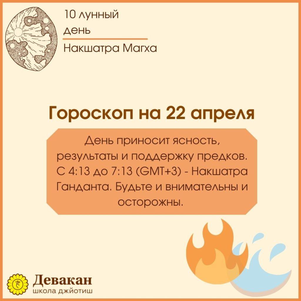 гороскоп на сегодня 22 апреля 2021
