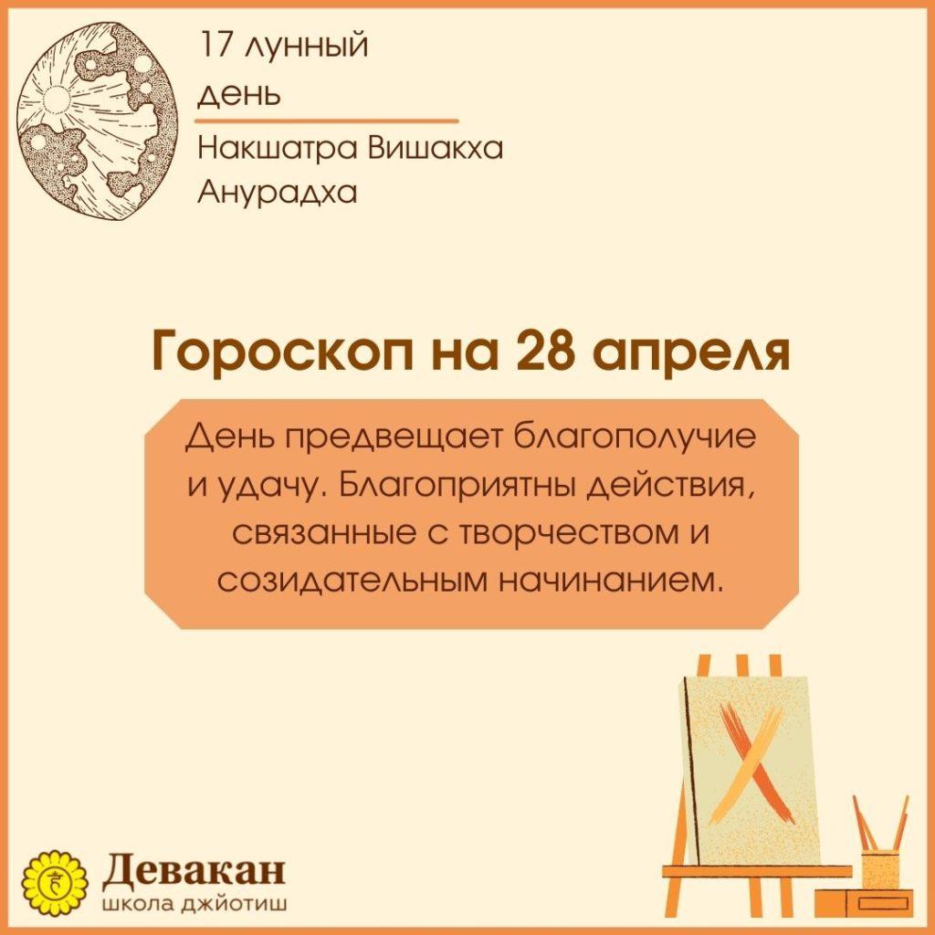 гороскоп на сегодня 28 апреля 2021