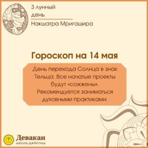 гороскоп на сегодня 14 мая 2021