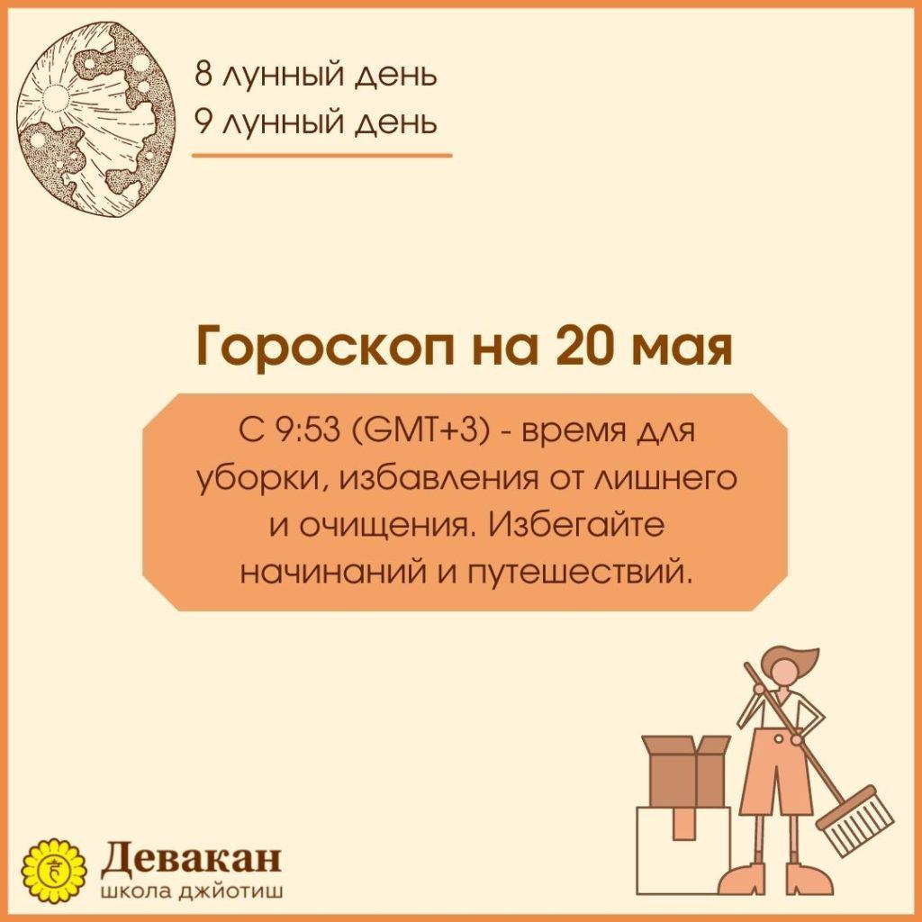гороскоп на сегодня 20 мая 2021