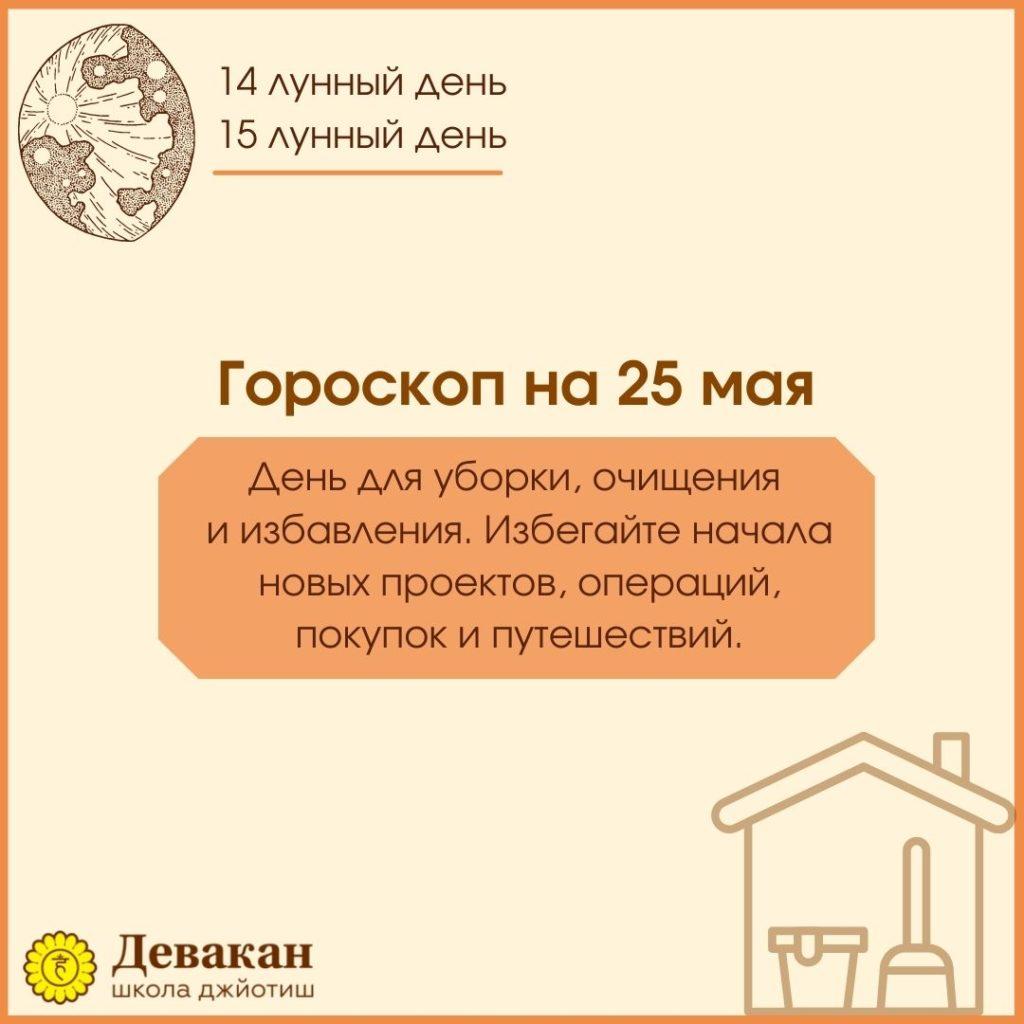 гороскоп на сегодня 25 мая 2021