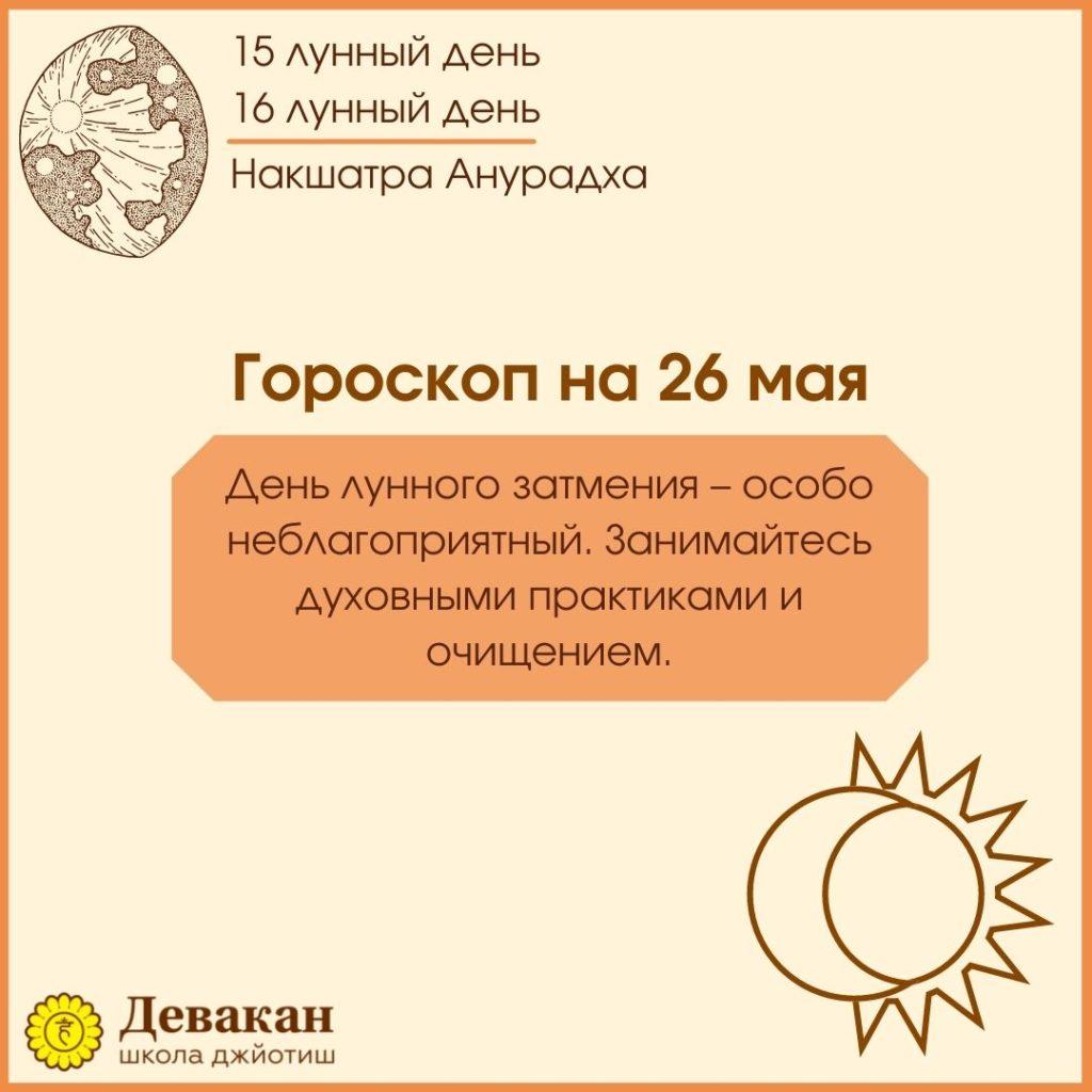гороскоп на сегодня 26 мая 2021