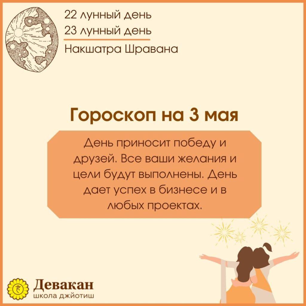 гороскоп на сегодня 3 мая 2021