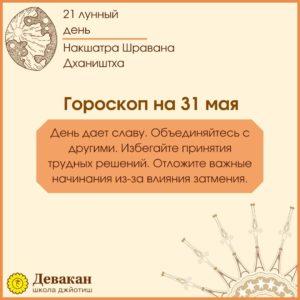 гороскоп на сегодня 31 мая 2021