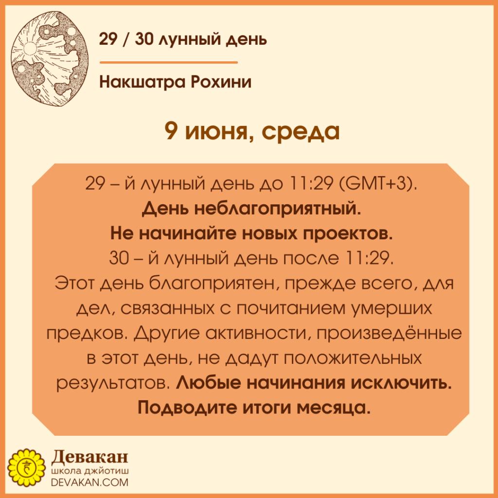 Лунный календарь и Гороскоп на неделю с 7 по 13 июня 2021 3