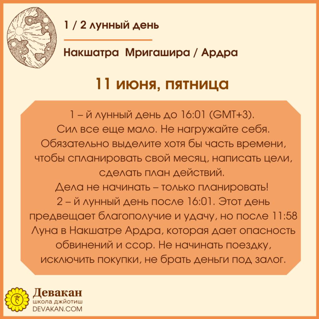 Лунный календарь и Гороскоп на неделю с 7 по 13 июня 2021 5