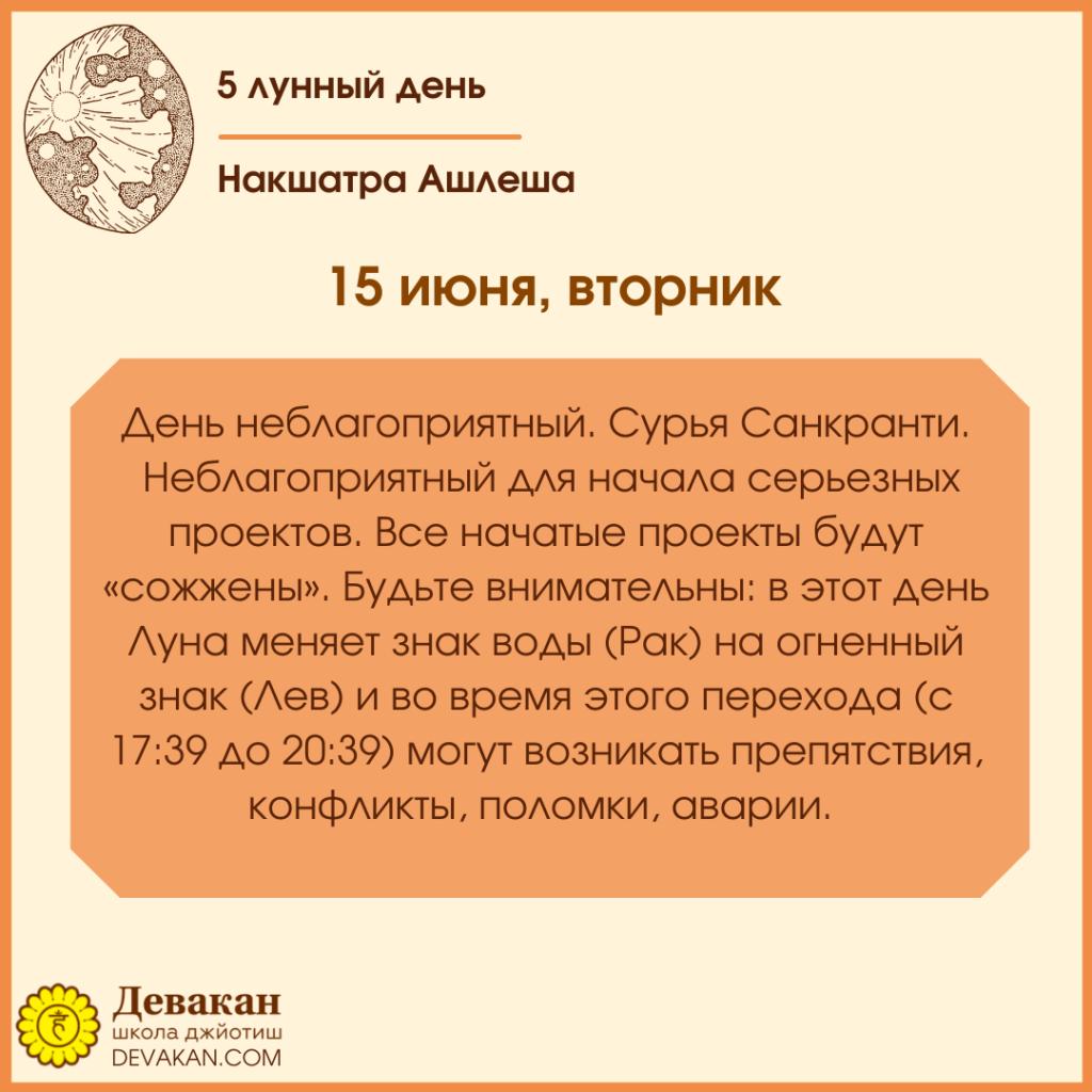 Лунный календарь и Гороскоп на неделю с 14 по 20 июня 2021 2
