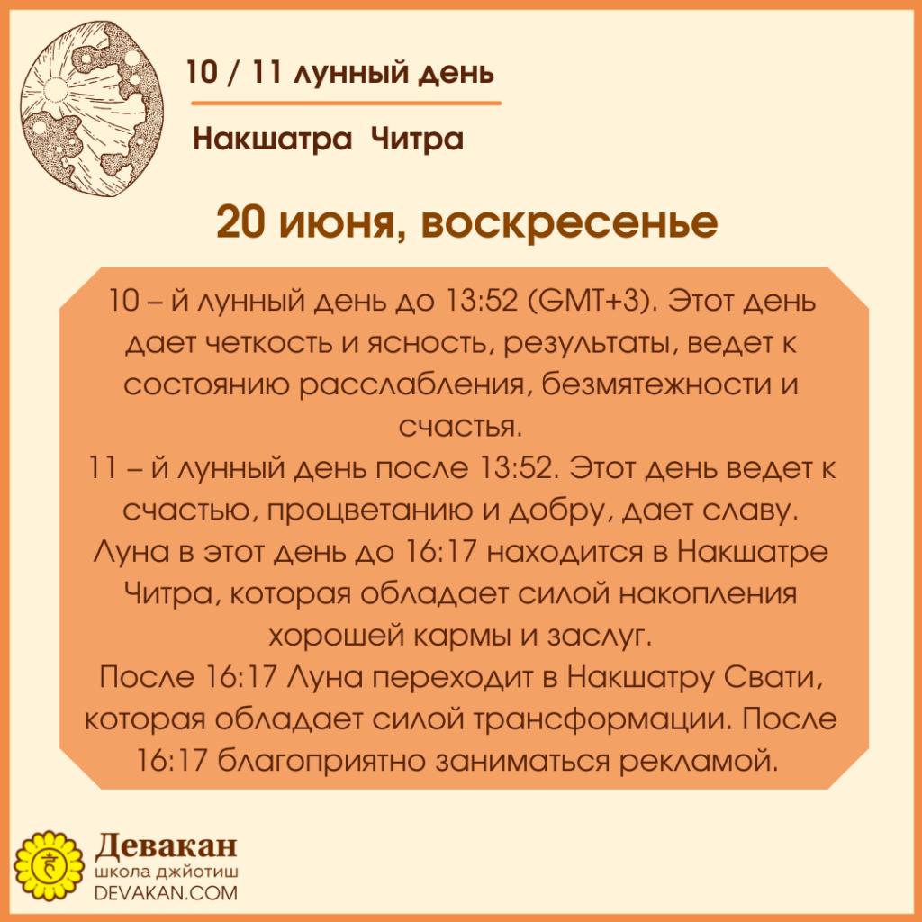 Лунный календарь и Гороскоп на неделю с 14 по 20 июня 2021 7