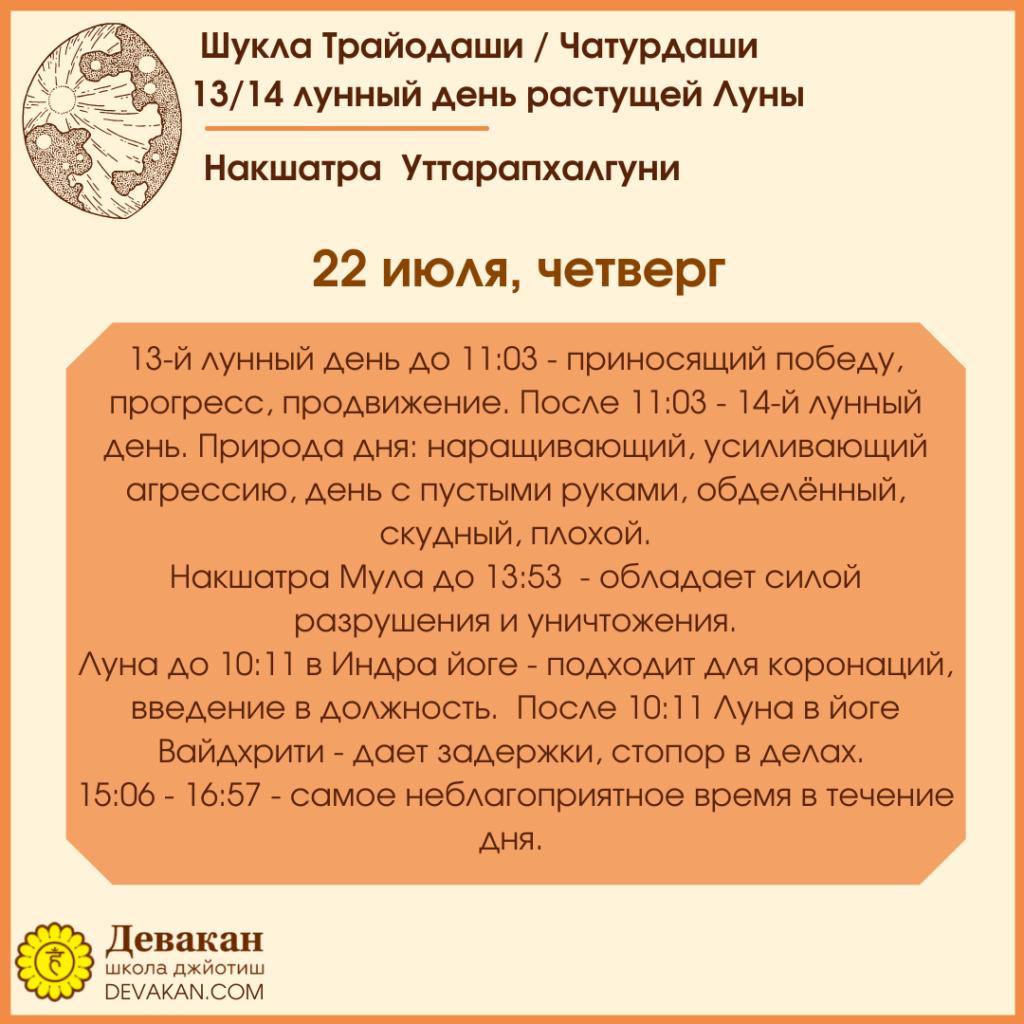 гороскоп на сегодня 22 июля 2021